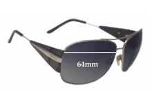 Sunglass Fix Sunglass Replacement Lenses for Just Cavalli - 64mm Wide x 51mm Tall