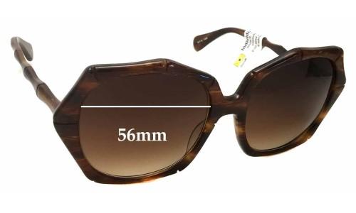 Sunglass Fix Sunglass Replacement Lenses for Kaleos Fossey - 56mm Wide