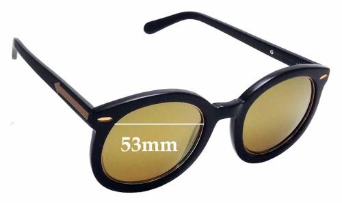 Sunglass Fix Sunglass Replacement Lenses for Karen Walker Super Duper Superstars - 53mm Wide