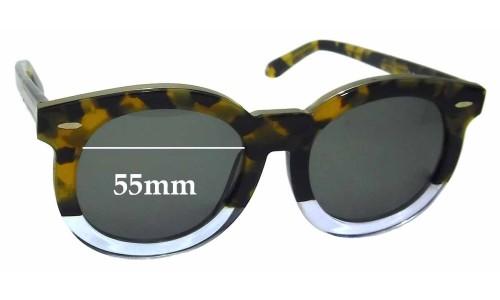 Sunglass Fix Sunglass Replacement Lenses for Karen Walker Super Duper Thistle - 55mm Wide