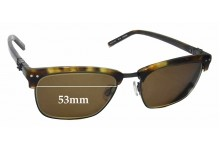 Sunglass Fix Sunglass Replacement Lenses for Karl Lagerfeld KL09 - 53mm Wide