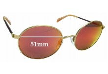 Sunglass Fix Sunglass Replacement Lenses for Kylie Minogue Sun Rx 04 - 51mm Wide