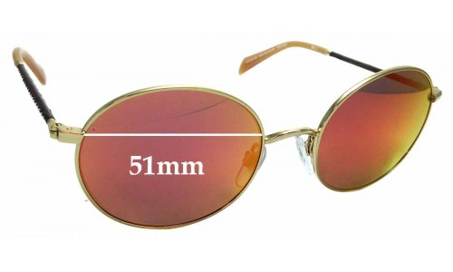 Sunglass Fix Sunglass Replacement Lenses for Kylie Sun Rx 04 - 51mm wide