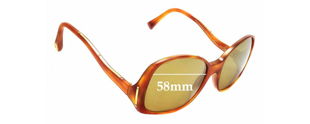 9e59793596a6 Sunglass Fix Sunglass Replacement Lenses for Louis Vuitton Gina Z0053WN -  58mm wide