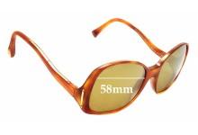 Sunglass Fix Sunglass Replacement Lenses for Louis Vuitton Gina Z0053WN - 58mm Wide