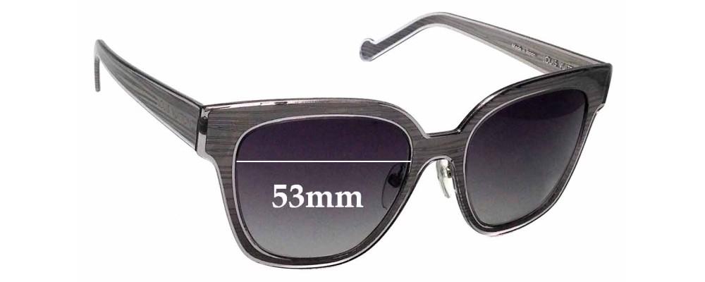 953b2853b4 Sunglass Fix Sunglass Replacement Lenses for Louis Vuitton Z0813U - 53mm  wide