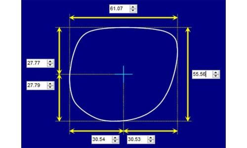 Sunglass Fix Sunglass Replacement Lenses for Lamborghini 4020 - 61mm Wide - 56mm Tall