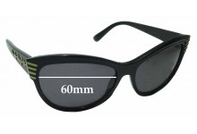 Sunglass Fix Sunglass Replacement Lenses for Marc by Marc Jacobs MMJ 196/S - 60mm Wide