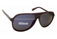 Sunglass Fix Sunglass Replacement Lenses for Marc by Marc Jacobs Aviator - 60mm Wide x 52mm Tall