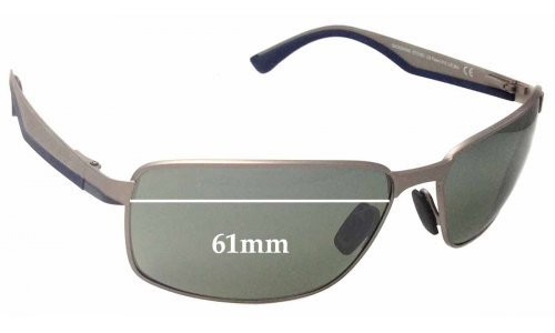 Sunglass Fix Sunglass Replacement Lenses for Maui Jim Backswing MJ709 - 61mm wide