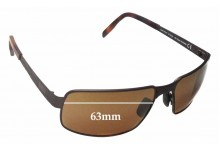 Sunglass Fix Sunglass Replacement Lenses for Maui Jim Castaway MJ187 - 63mm Wide