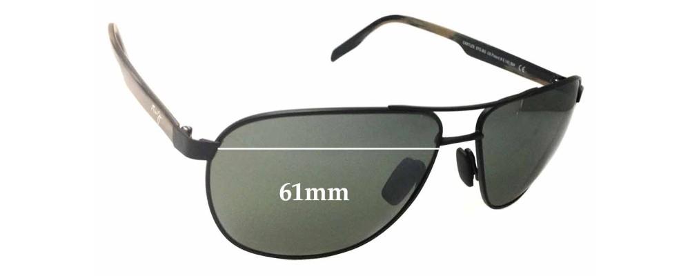 Sunglass Fix Sunglass Replacement Lenses for Maui Jim Castles MJ728 - 61mm Wide