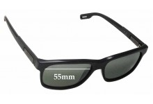 Sunglass Fix Sunglass Replacement Lenses for Maui Jim Eh Brah MJ284 - 55mm Wide