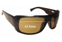 Sunglass Fix Sunglass Replacement Lenses for Maui Jim Five Caves MJ283 - 61mm Wide