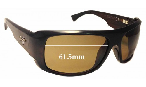 Sunglass Fix Sunglass Replacement Lenses for Maui Jim Five Caves MJ283 - 61.5mm Wide