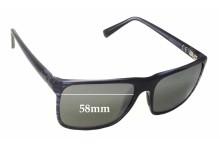 Sunglass Fix Sunglass Replacement Lenses for Maui Jim Flat Island MJ705 - 58mm Wide
