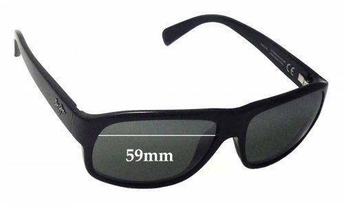 Sunglass Fix Sunglass Replacement Lenses for Maui Jim Free Dive MJ200 - 59mm wide