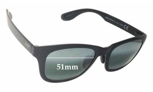 Sunglass Fix Sunglass Replacement Lenses for Maui Jim Hana Bay MJ434 - 51mm Wide