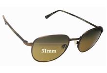 Sunglass Fix Sunglass Replacement Lenses for Maui Jim Hana Hou MJ292 - 51mm Wide