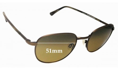Sunglass Fix Sunglass Replacement Lenses for Maui Jim Hana Hou MJ292 - 51mm Wide