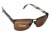 Sunglass Fix Sunglass Replacement Lenses for Maui Jim Hang 10 MJ296 - 57mm Wide