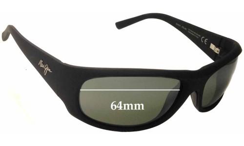 Sunglass Fix Sunglass Replacement Lenses for Maui Jim Ikaika MJ281 - 64mm Wide