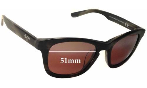 Sunglass Fix Sunglass Replacement Lenses for Maui Jim Kaa Point MJ713 - 51mm Wide