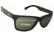 Sunglass Fix Sunglass Replacement Lenses for Maui Jim Kahi MJ736 - 57mm Wide