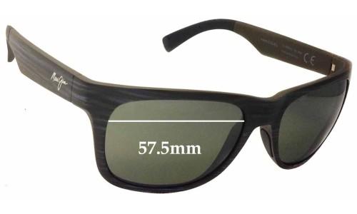 Sunglass Fix Sunglass Replacement Lenses for Maui Jim Kahi MJ736 - 57.5mm Wide