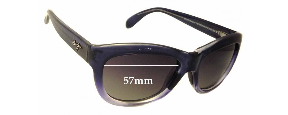 Sunglass Fix Sunglass Replacement Lenses for Maui Jim MJ270 Kanani - 57mm Wide