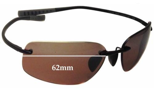 Sunglass Fix Sunglass Replacement Lenses for Maui Jim Kupuna MJ742 - 62mm Wide