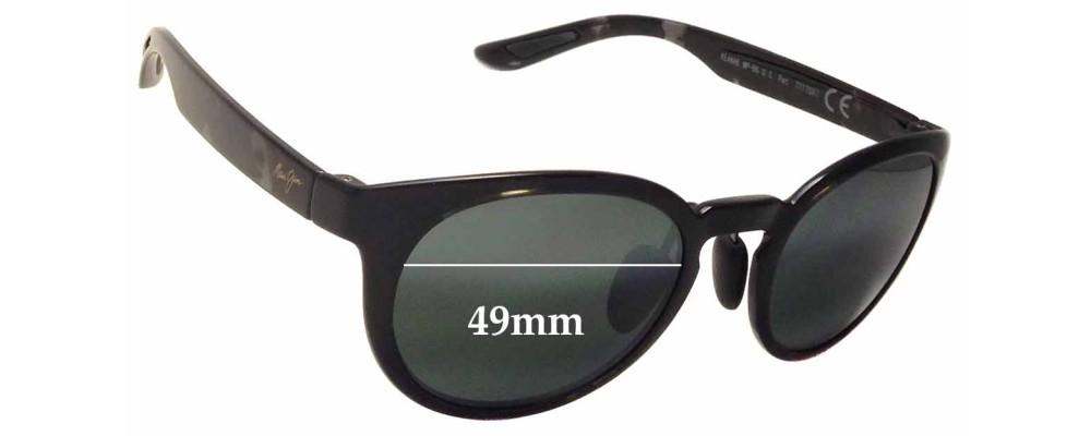 Sunglass Fix Sunglass Replacement Lenses for Maui Jim Keanae MJ420 - 49mm Wide