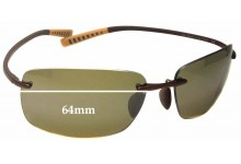 Sunglass Fix Sunglass Replacement Lenses for Maui Jim Kumu MJ724 - 64mm Wide