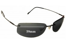 Sunglass Fix Sunglass Replacement Lenses for Maui Jim Lahaina MJ450 - 59mm Wide