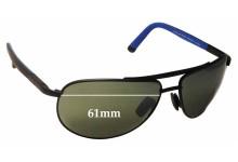 Sunglass Fix Sunglass Replacement Lenses for Maui Jim  Leeward Coast MJ297 - 61mm Wide
