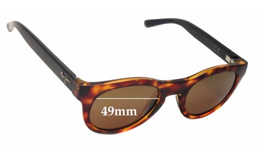 Sunglass Fix Sunglass Replacement Lenses for Maui Jim Liana MJ287 - 49mm wide