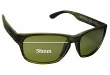 Sunglass Fix Sunglass Replacement Lenses for Maui Jim Mixed Plate MJ721 - 58mm Wide