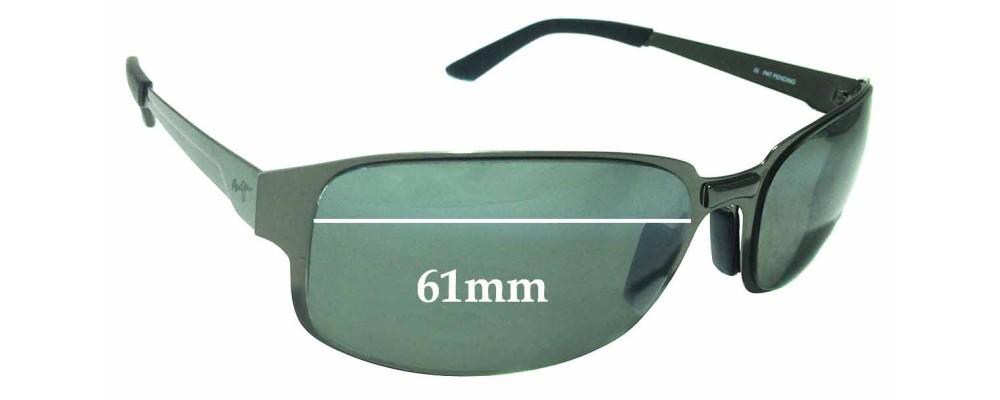 Sunglass Fix Sunglass Replacement Lenses for Maui Jim Topsail MJ505 - 61mm Wide