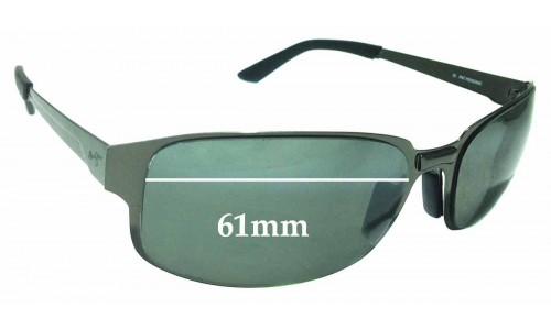 Sunglass Fix Sunglass Replacement Lenses for Maui Jim Topsail MJ505 - 61mm wide