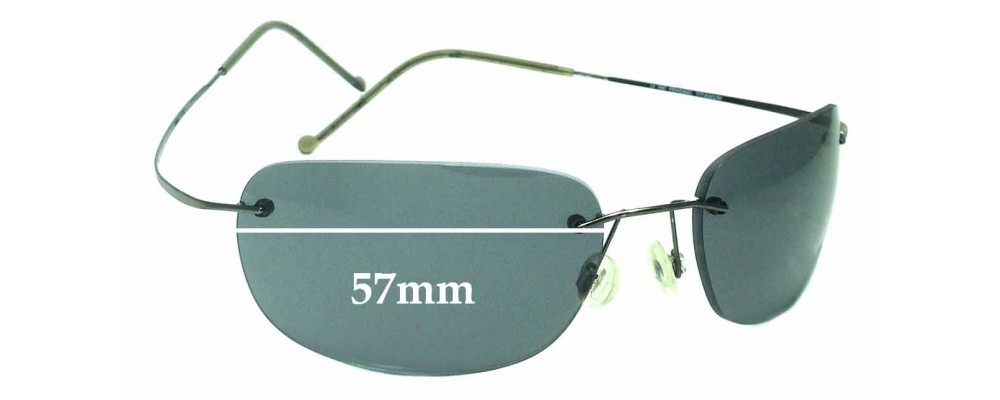 Sunglass Fix Sunglass Replacement Lenses for Maui Jim MJ502 Kapalua - 57mm Wide *Please measure as there are size variations*
