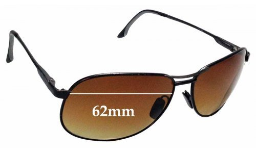 Sunglass Fix Sunglass Replacement Lenses for Maui Jim 117 Akoni - 62mm Wide