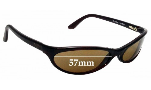 Sunglass Fix Sunglass Replacement Lenses for Maui Jim 126 Riptide - 57mm Wide