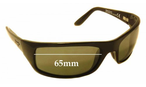 Sunglass Fix Sunglass Replacement Lenses for Maui Jim Peahi MJ202 - 65mm Wide