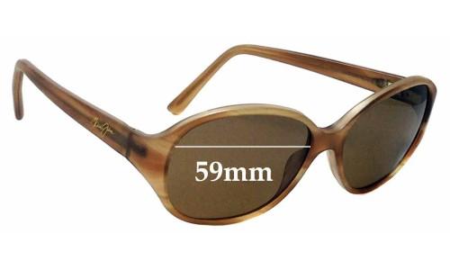 Sunglass Fix Sunglass Replacement Lenses for Maui Jim MJ221 Ginger - 59mm Wide