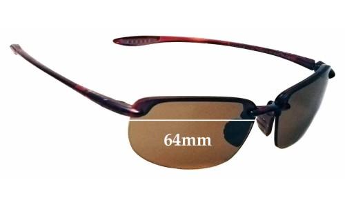 Sunglass Fix Sunglass Replacement Lenses for Maui Jim Ho'okipa MJ407N - 64mm Wide