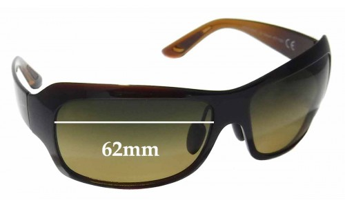 Sunglass Fix Sunglass Replacement Lenses for Maui Jim MJ418 Seven Pools - 62mm Wide
