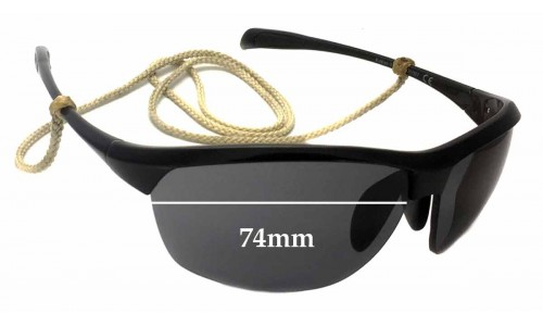Sunglass Fix Sunglass Replacement Lenses for Maui Jim Middles MJ428 - 74mm Wide