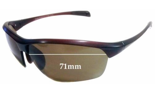 Sunglass Fix Sunglass Replacement Lenses for Maui Jim MJ429 Stone Crushers - 71mm Wide