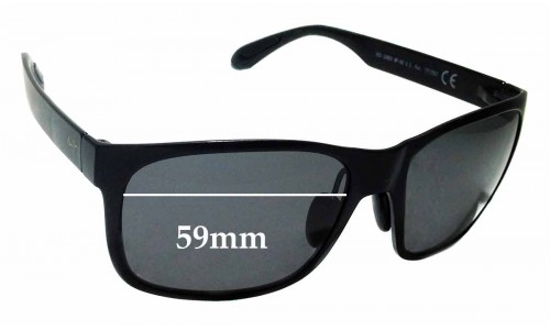Sunglass Fix Sunglass Replacement Lenses for Maui Jim MJ432 Red Sands - 59mm wide