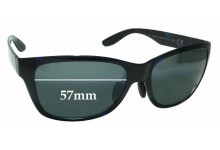 Sunglass Fix Sunglass Replacement Lenses for Maui Jim MJ435 Road Trip - 57mm Wide